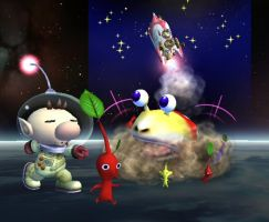 Final Smash Olimar by Zabutsu