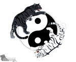 Tiger Yin Yang by UnknownLioness