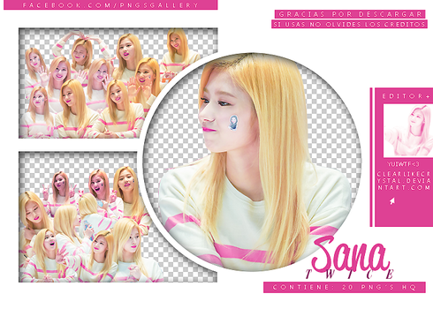 #031 | Pack PNG | Sana| Twice by clearlikecrystal