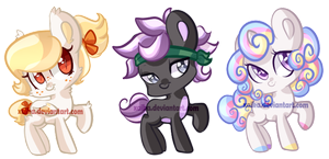 Food Inspired Pony Adopts (OPEN) by Xaika