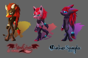 Chibi Anthro Canines - Batch 3 by VibrantEchoes