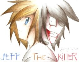 JEFF THE KILLER COLORED PENCIL by superenguanapianist