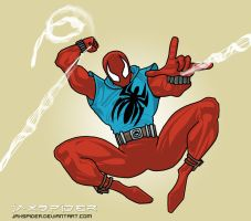 Scarlet Spider - Swingin by jaxspider