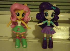 Equestria Girls Minis - Fluttershy and Rarity by Chris-Dilke