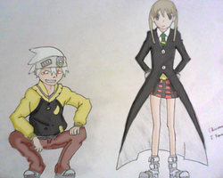 Soul and Maka painted by ccrusher7