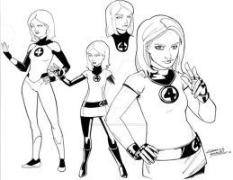 Fantastic Four Invisible Woman by KidNotorious