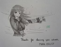 Manga Girl with a Scarf from Mark Crilley's video! by delPuertoSisters