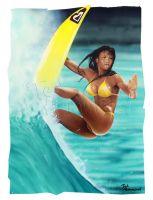 Surfer Girl by ted1air