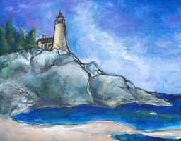 M1 (Lighthouse Scene) by AlexandraBowmanArt