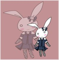 gothic bunny by Dimitra25