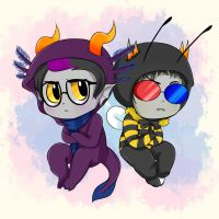Eridan and Sollux by Brimms