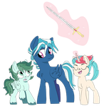 Cricket, Lyric, and Sabre by dbkit