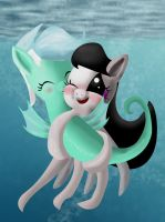 Seapony Lyra and Octaviapus by PascalsWager
