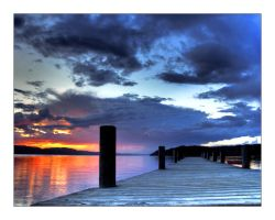 pier in sunset1 by NorwegianAnette