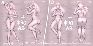 YCH: Dakimakura - Body Pillow Auction pt 2 CLOSED by MaryLittleRose