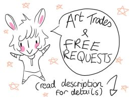 Art trades/ FREE requests by HannahMeyers