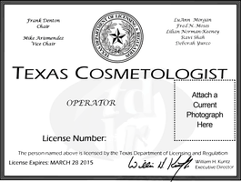 Texas Cosmetologist License by SoulComplex
