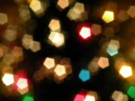 White Bokeh With Colored Spots by KShasta11