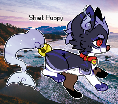 Shark Puppy SoulFox Auction (Closed) by watercoIor