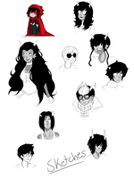 Homestuck sketches by MeibyWabie