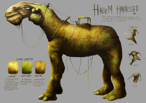 Hallem, creature profile 2 by xybibi