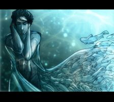 Dressed in Waves of Blue by LuckySquid
