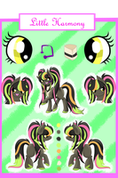 Little Harmony Reference Sheet by DafinasPride