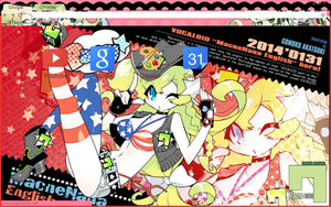 Vocaloid Nana English Chrome Theme by Inochi-PM