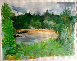 Maree haute a Montjoly - Guyane by ClairObscur16