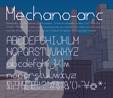 Free font:Mechano-arc by mimupon