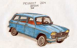 Peugeot 204 Break by Night-traveller