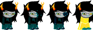 SD - Teal Vriska Alt Outfits by Shadowgate31