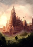 ancient castle by matty17art