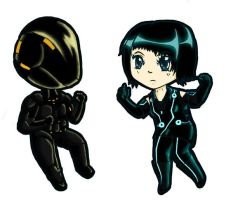 Rinzler-Tron And Quorra Chibi by Railey98