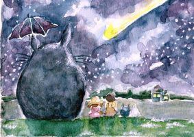 Totoro and friends in Meteor Garden by reianne