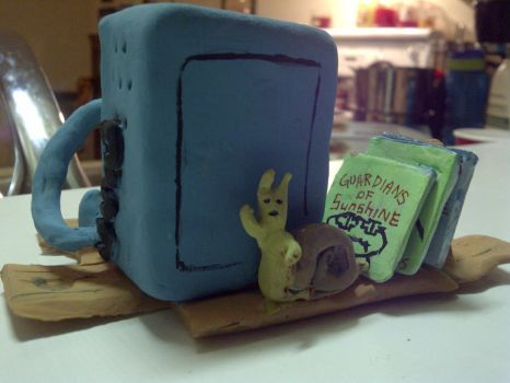 Adventure time - BMO Sculpture - Pic 2 by JimmyNice1