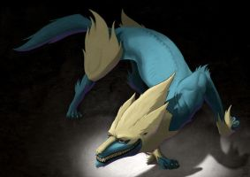Manectric - Demonic version - by Sa-chan1603
