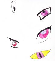 Anime Eyes Practice 1 by Finny-KunGoddess