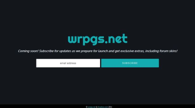 WRPGS Network Updated - Coming Soon Splash Page by Draebox
