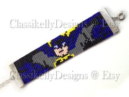 Batman Beaded Bracelet by Classikelly