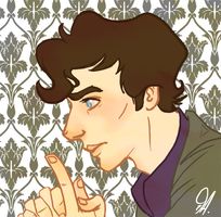 Thinking Sherlock - gif by RaiseYourChickenWing