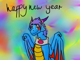 happy New Year 2013!!!!!!!! by paristhedragon