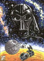 Darth Vader sketch card by Reznorix
