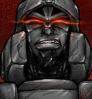 TF - Megatron FACE by BLACK-HEART-SPIRAL