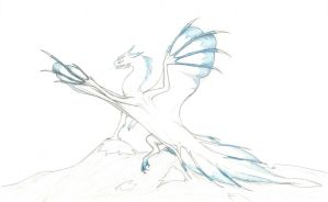 Mountain ice dragon by Flying-With-Dragons