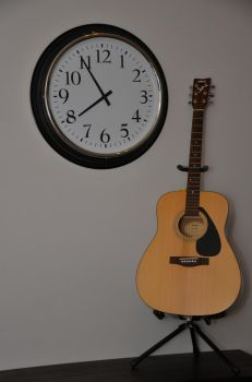 My guitar and my clock 1 by Johvic