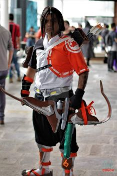 Cosplay - Young Hanzo - Overwatch by TheDarkFire