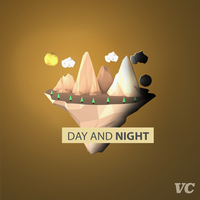 First Low Poly Art: DAY AND NIGHT by ValsCreations