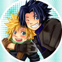 Pins--Cloud+Zack by semokan