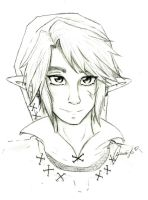 Link portrait by SuperTawaifaQueen